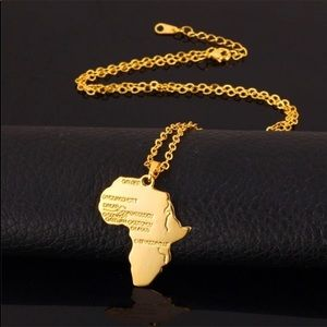 Other - New 18K gold map necklace